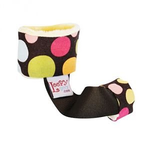 Baby Rattle Holder - Brown Colored Dots Loopy