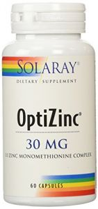 Solaray Optizinc Supplement, 30 Mg, 60 Count