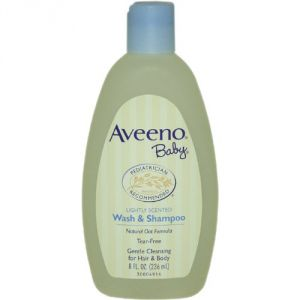 Aveeno Baby Wash & Shampoo, Lightly Scented, 8 Ounce Pack Of 2