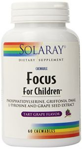 Solaray Focus For Children Supplements, 60 Count