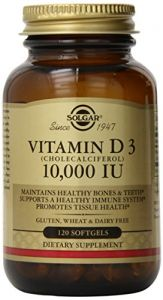 Solgar Vitamin D3 Cholecalciferol 10,000 Iu Softgels, 120 Count