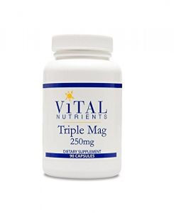 Vital Nutrients Triple Magnesium Supplement, 250 Mg, 90 Vegetarian Capsules