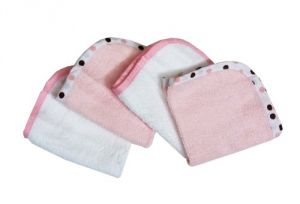 American Baby Company 4-pack 100% Organic Cotton Terry Washcloths, Pink