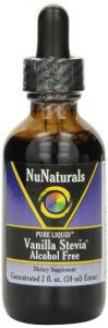 Nunaturals Nustevia Vanilla Alcohol Free Stevia Glass Bottle Liquid, 2-ounce