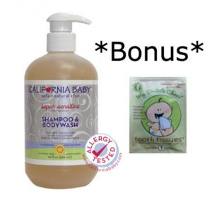 California Baby Super Sensitive Inches Shampoo & Bodywash - 19oz *and* Tooth Tissue Sample
