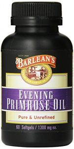 "Barlean""s Organic Oils Organic Evening Primrose Oil Softgels, 60-count Bottle"