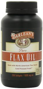 "Barlean""s Organic Oils Pure Flax Oil, 250 Count Softgels Bottle"