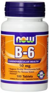 Now Foods Vitamin B-6, 50 Mg, 100 Tablets