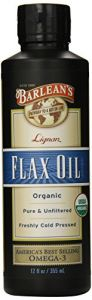 "Barlean""s Organic Lignan Flax Oil, 12-ounce Bottle"