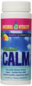 Natural Vitality Natural Calm Raspberry Lemon Flavor 8 Oz.