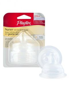 Playtex Drop-ins Naturalatch Silicone Nipple - Fast Flow - 2 Pack