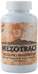 Mezotrace Calcium/magnesium Natural Minerals And Trace Elements Supplement, 180 Count