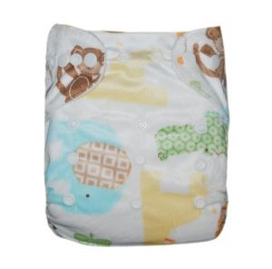 Alva Baby One Size Washable Reusable Cloth Diaper Fit For 6-33lbs Babyanimal Two Inserts M07