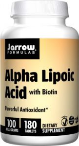 Jarrow Formulas Alpha Lipoic Acid, 100 Mg, 180 Count