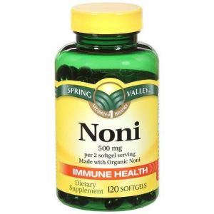 Natural Noni Vitamins Immune Health By Spring Valley,(500 Mg), 120 Softgels