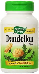 "Nature""s Way Dandelion Root, 525mg - 100 Capsules"