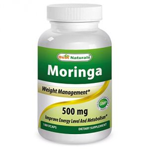 Moringa 500 Mg 180 Vcaps By Best Naturals Featuring Pure Organc Moringa Oleifera Leaf Capsule