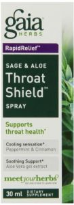 Gaia Herbs Sage And Aloe Throat Shield Spray, 1-ounce Bottle