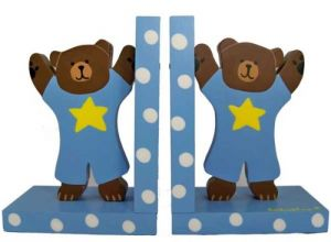 Baby Blue Teddy Bear Bookends