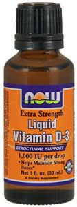 Now Foods Ex Str Liquid Vitamin D-3 1,000 Iu Drop, 1 Ounce