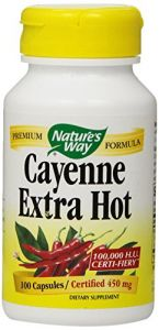 "Nature""s Way Cayenne Extra Hot, Capsules 100ea"