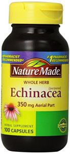 Nature Made Echinacea Herb, 350mg, 100 Count.