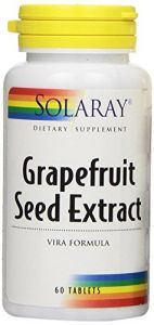 Solaray Grapefruit Seed Extract Vira Formula Tablets, 250 Mg, 60 Count
