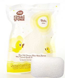 My Konjac Sponge All Natural Fiber Baby Bath Sponge