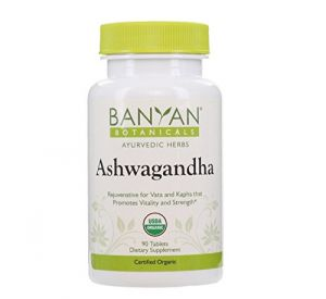 Banyan Botanicals Ashwagandha - Certified Organic, 90 Tablets - For Rejuvenation For Vata & Kapha That Promotes Vitality & Strength