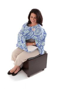 Covillow Breastfeeding Cover And Pillow-in-one, Peaceful Periwinkle