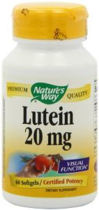 "Nature""s Way Lutein 20mg, 60 Softgels"