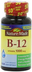 Nature Made Vitamin B-12 Tablets, 1000 Mcg, 90 Softgels