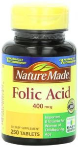 Nature Made Folic Acid 400mcg, 250 Tablets (pack Of 3)