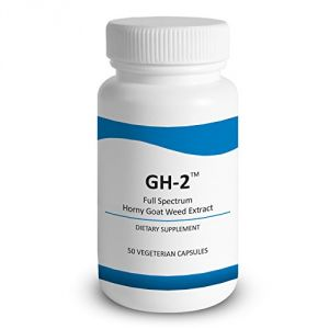 Gh-2 - Horny Goat Weed (epimedium) Extract - Contains 20% Icariins & Water-extracted Horny Goat Weed Extract, 50 Capsules Per Bottle