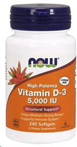 Vitamin D-3 5000 Iu 240 Softgels (pack Of 2)