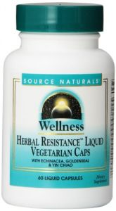 Source Naturals Wellness Herbal Resistance Liquid Vegetarian Capsules, 60 Count