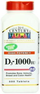 21st Century D3 1000 Iu Tablets, 500-count