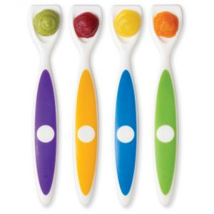 Dr. Browns Designed To Nourish 4 Pack Long Spatula Spoon, Colors May Vary