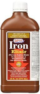 Ferrous Sulphate Iron Elixir Supplement Liquid 16 Oz