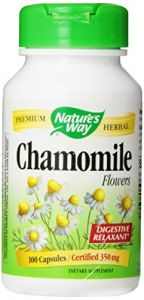 "Nature""s Way Chamomile Flowers , 350 Mg, 100 Capsules"