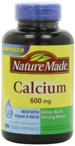 Nature Made Calcium 600mg With Vitamin D 100 Softgels (pack Of 3)