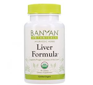 Banyan Botanicals Liver Formula - Certified Organic, 90 Tablets - Supports Proper Function Of The Liver