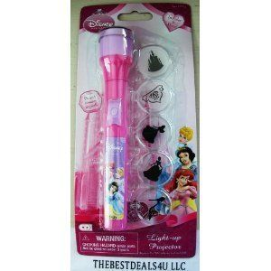 Disney Princess Light Up Projector Flash Light
