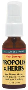 Propolis & Herbs Throat Spray Ys Eco Bee Farms 1 Oz Spray