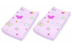 Summer Infant Plush Pals Changing Pad Cover - 2 Pack, Butterfly