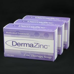 Baby Care (Misc) - DermaZinc Zinc Therapy Soap 106g bar - 3 Pack