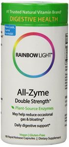 Rainbow Light All-zyme Double Strength,180 Rapid-release Caps