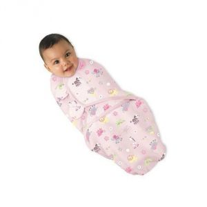 Summer Infant Swaddleme Cotton Wrap Girl Jungle Chic Small-medium