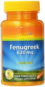 Thompson Fenugreek Capsules, 620mg, 60 Count (pack Of 3)
