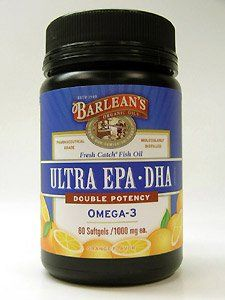 "Barlean""s Organic Oils Fresh Catch Fish Oil, Ultra Epa-dha, Orange Flavor 1000 Mg, 60 Softgels"